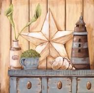 Coastal Cupboard I  Fine Art Print