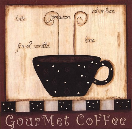Framed Gourmet Coffee Print