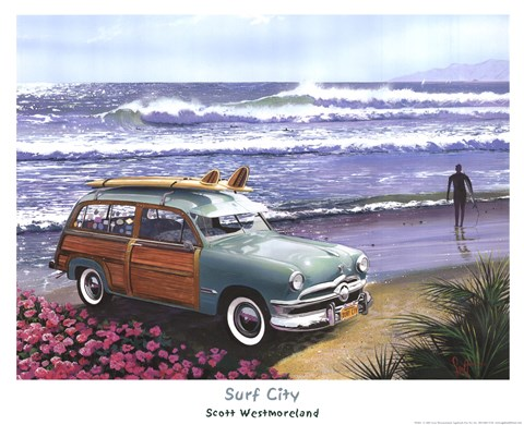 Framed Surf City Print