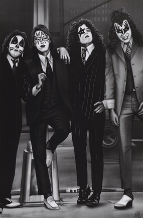 Kiss Dressed To Kill Airbrush Wall Poster By Unknown