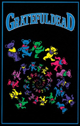 Grateful Dead Dancing Bears Blacklight Poster Wall