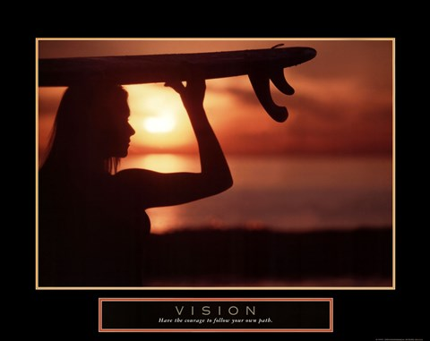 Framed Vision - Female Surfer Print