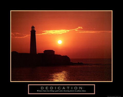 Framed Dedication - Lighthouse Print