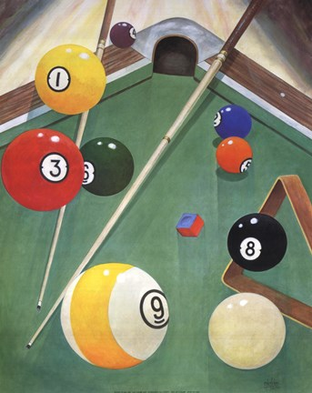 Framed Billiards I Print