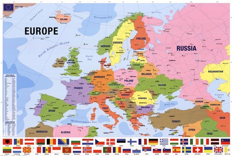 Map Of Europe Fine Art Print By Unknown At Fulcrumgallery Com