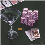 Poker Chips Big Slick  Fine Art Print