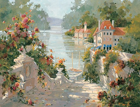 Italian Harbor Fine Art Print By Marilyn Simandle At