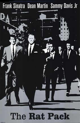 Framed Rat Pack (Silver) Print
