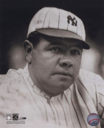 Framed Babe Ruth - classic portrait Print