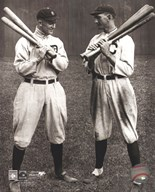 Ty Cobb and Shoeless Joe Jackson Art