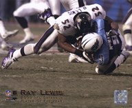 Ray Lewis - 2000 Defensive Player of the Year  Fine Art Print