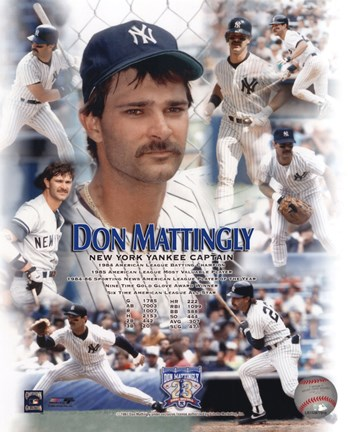 Framed Don Mattingly - Legends of the Game Composite Print