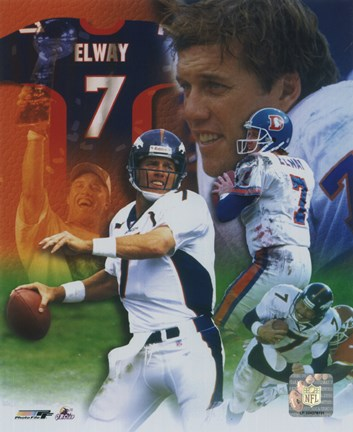 Framed John Elway - Legends of the Game Composite Print