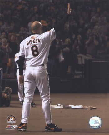 Framed Cal Ripken Jr. - Last Game Waving Print