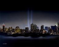 Towers of Light (NYC) - September 11 Tribute  Fine Art Print