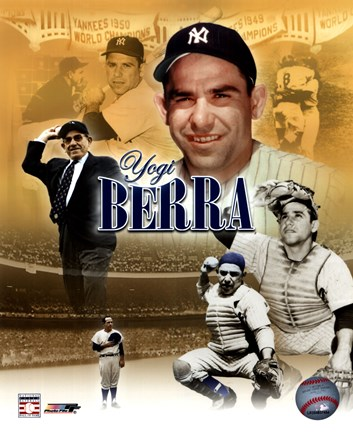 Framed Yogi Berra Legends Composite Print