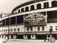 Wrigley Field - Outside/Sepia  Fine Art Print