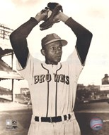 Satchel Paige - Ball in glove