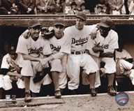 Jackie Robinson - First Day, with Spider Jorgenson, Pee Wee Reese, Ed Stankey