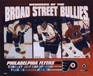 Gary Dornhoefer / Dave Schultz / Reggie Leach - Broad Street Bullies  Fine Art Print