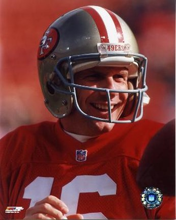 Framed Joe Montana - #19 Close up Print