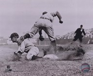 Ty Cobb - Sliding into base, sepia Art