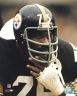 Joe Greene - Close up on sidelines  Fine Art Print