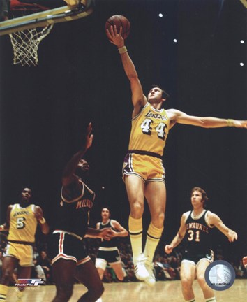 Framed Jerry West - Action Print
