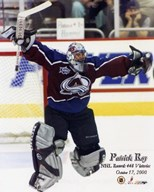 Patrick Roy - 448 Wins with Overlay  Fine Art Print