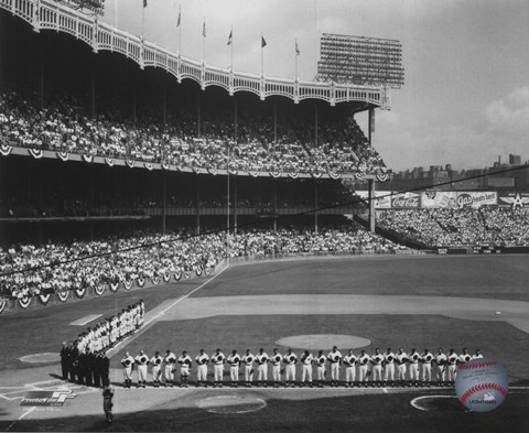 Yankee Stadium Left Field 1955 World Series Opening Game
