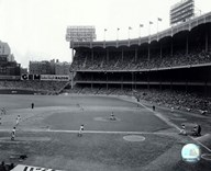 Yankee Stadium Right Field - 1951 World Series Game 6 - Hank Bauer hitting 3 run triple,  Fine Art Print