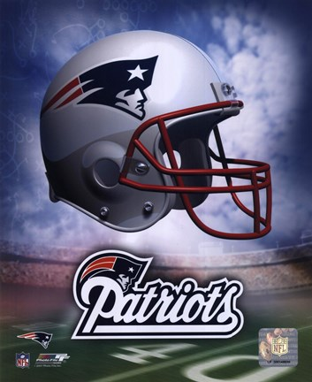 New England Patriots Helmet Logo Fine Art Print by Unknown at ...