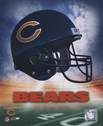 Framed Chicago Bears Helmet Logo Print