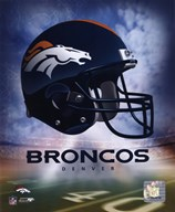 Denver Broncos Helmet Logo  Fine Art Print