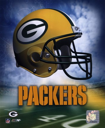 Framed Green Bay Packers Helmet Logo Print