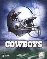 Dallas Cowboys Helmet Logo  Fine Art Print