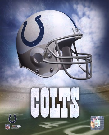 Framed Indianapolis Colts Helmet Logo Print