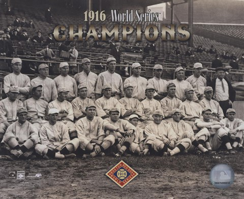 Framed 1916 World Series Champion Red SoxTeam Print