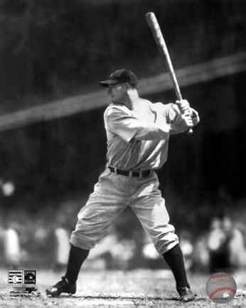 Lou Gehrig Batting Action Fine Art Print By Unknown At