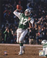 Joe Namath - Passing Action Art
