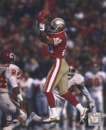 Framed Jerry Rice - Leaping Catch Print
