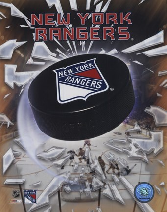 Framed New York Rangers 2005 - Logo / Puck Print