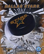 Dallas Stars  2005 - Logo / Puck  Fine Art Print