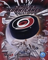 Carolina Hurricanes  2005 - Logo / Puck  Fine Art Print