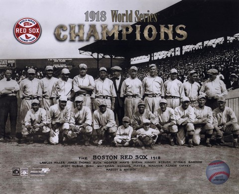1918 Red Sox World Series Champions Fine Art Print By