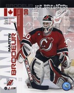 Martin Brodeur - Ice Breakers Composite  Fine Art Print