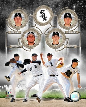 Framed White Sox - 2006 Big 4 Pitchers Print