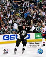 Sidney Crosby - 100th Point / With Overlay  Fine Art Print