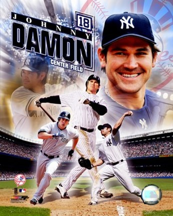 Framed Johnny Damon - 2006 Portrait Plus Print