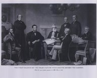 President Lincoln First Reading of the Emancipation Proclamation (#4)